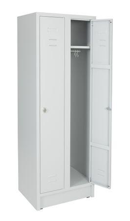 Stahl-Reihenspind, 60 cm, 2-türig Lichtgrau – Bild 3