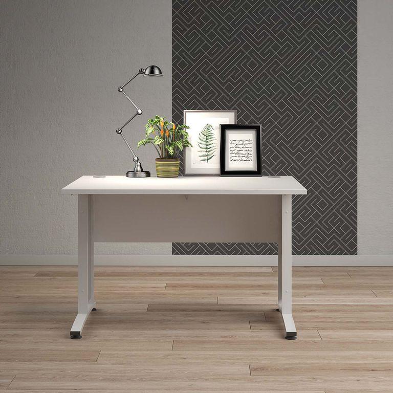 Prima Schreibtisch 120/150 x 80 cm Weiß