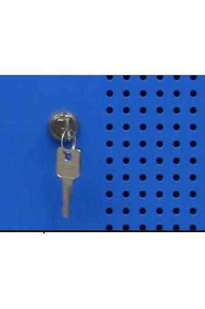 Stahl-Doppelspind 180x59x50 cm Lichtgrau / Blau – Bild 14