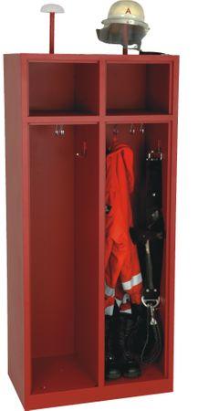 Feuerwehrschrank 180x50x80 cm, Rot – Bild 6