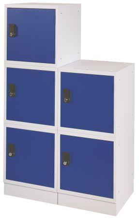 Schließfachwürfel Stapelbar Lichtgrau / Blau – Bild 3