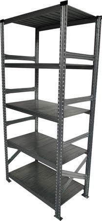 Schwerlastregal 200x100x40 cm Grau – Bild 1