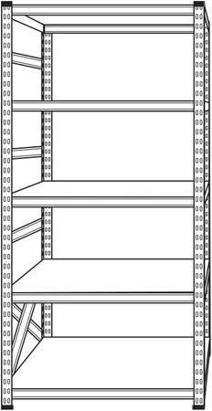 Schwerlastregal 200x100x40 cm Grau – Bild 6