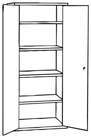 Aktenschrank 180x80x38 cm, 4OH Lichtgrau – Bild 3