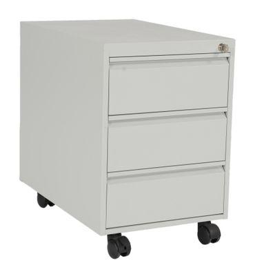 Rollcontainer, 3 Schubladen, Metall, Grau – Bild 6