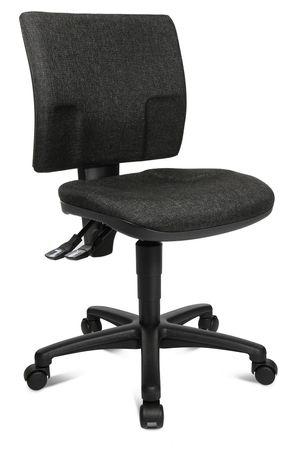 Bürodrehstuhl ohne Armlehnen, Anthrazit – Bild 8