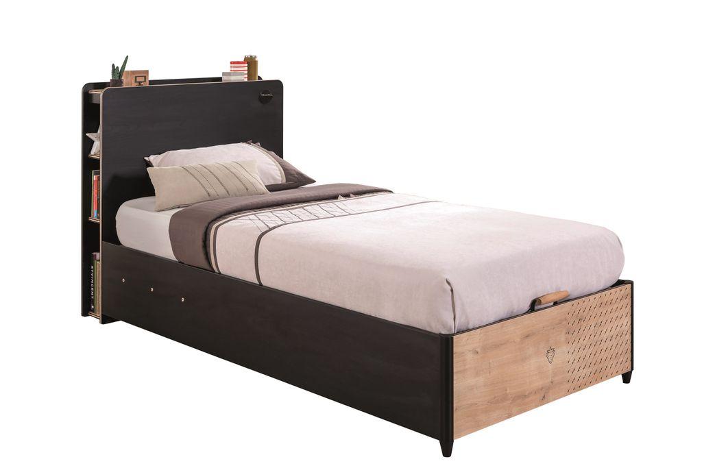 Black Bett Mit Kopfteil 100x200 Cm