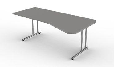 Start Up Freiformtisch, 195 x 80/100 cm Grafit