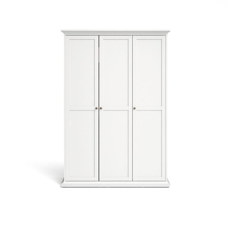 Paris Kleiderschrank 3-türig Weiß