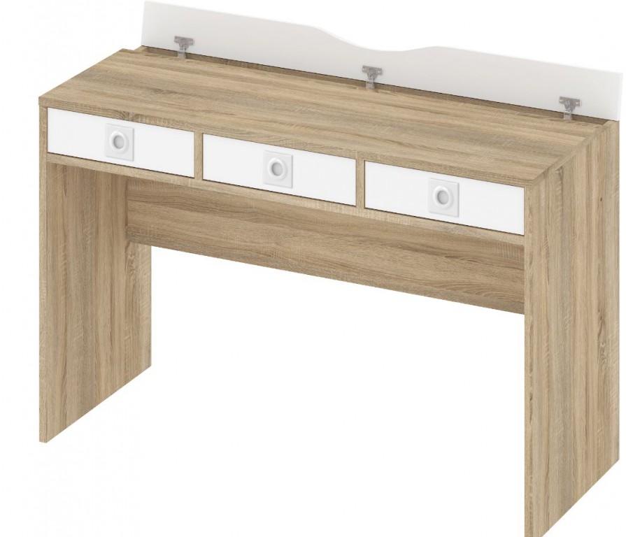 Tvilum Function Plus Computertisch Schreibtisch Bürotisch Büro Tisch Eiche Struktur / Weiß