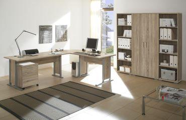 Komplettbüro OFFICE LINE Komplettset Homeoffice Eiche Sonoma – Bild 1