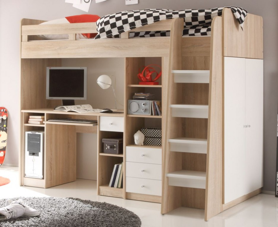 multifunktionsbett unit etagenbett kinderbett bett kinder. Black Bedroom Furniture Sets. Home Design Ideas
