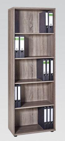 Aktenregal Bücheregal Büroregal 5 OH Regal Trüffel – Bild 1