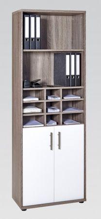 Aktenschrank Büromöbel Büroschrank 5 OH Schrank Trüffel – Bild 1