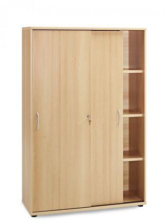 Schiebetürenschrank Aktenschrank Büromöbel Büroschrank 4 OH Schrank Buche – Bild 1