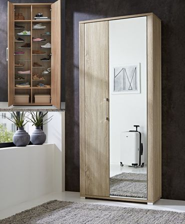 sonderpreis fine schuhschrank garderobenschrank garderobe eiche sonoma diele flur. Black Bedroom Furniture Sets. Home Design Ideas