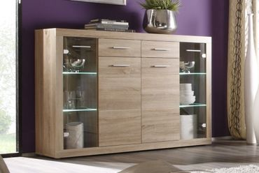 Highboard Can Can Highboard Anrichte Sonoma Eiche – Bild 1