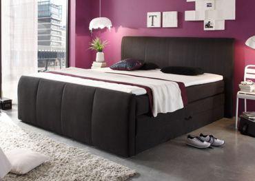 MARYLAND Boxspringbett inklusive Bettkasten 180 x 200 cm Bett Doppelbett Schwarz – Bild 1