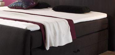 MARYLAND Boxspringbett inklusive Bettkasten 180 x 200 cm Bett Doppelbett Schwarz – Bild 3
