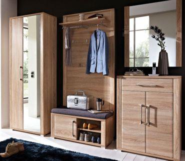 5 tlg GREENVILLE Garderobenkombination Garderobe Garderobeset Garderobenkomplettset – Bild 1
