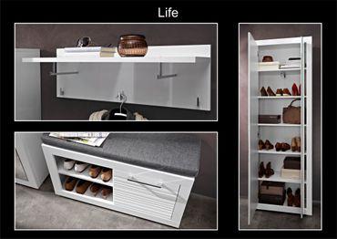 LYON Garderoben-Kombination Garderobe Garderobenschrank Garderobenset – Bild 3