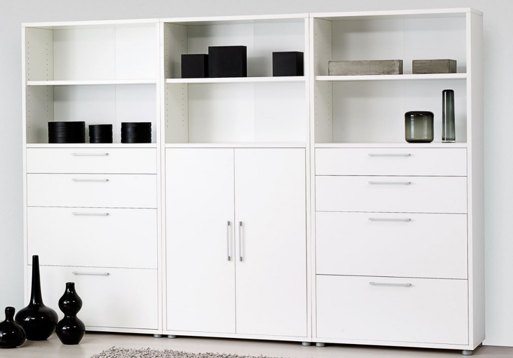 prima schrankwand 5 oh aktenschrank b roschrank. Black Bedroom Furniture Sets. Home Design Ideas