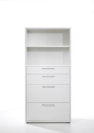 Prima Schrankwand 5 OH Weiß – Bild 3