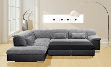Arizona Ecksofa Eckgarnitur Sofa Lederoptik Couch Eckcouch Wohnlandschaft – Bild 5