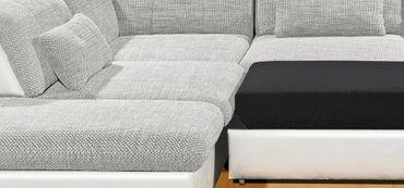 Nebraska ecksofa eckgarnitur couch sofa lederoptik for Wohnlandschaft lederoptik