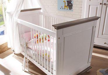 Laura Babyzimmer Kinderzimmer Babymöbel Wickelkommode Babybett Kiefer massiv – Bild 3