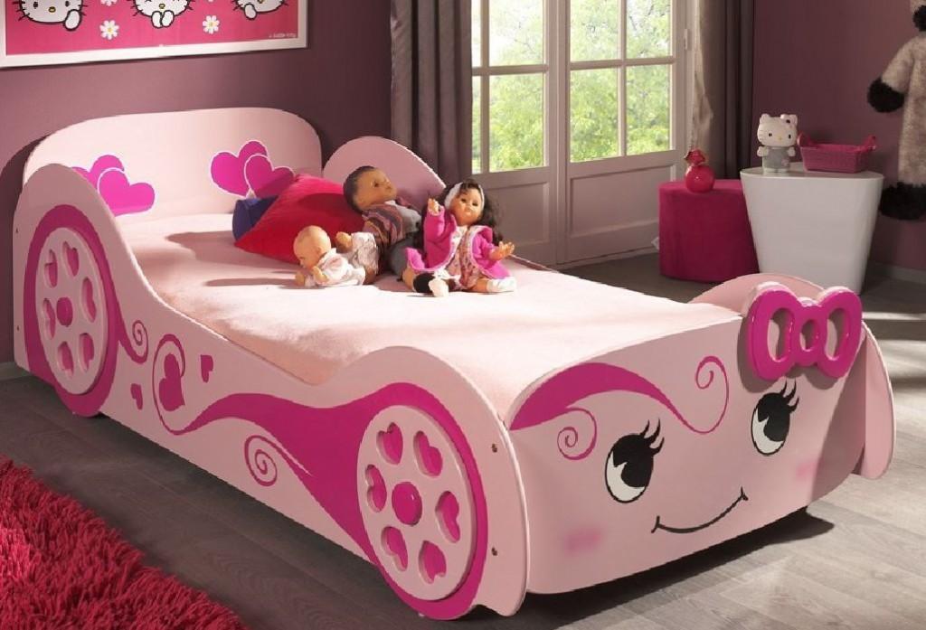 autobett pretty girl kinderbett bett rosa kids teens. Black Bedroom Furniture Sets. Home Design Ideas