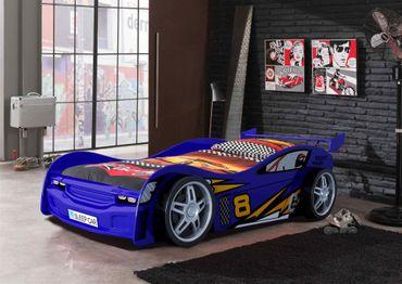Autobett Night Racer Kinderbett Bett Blau – Bild 2