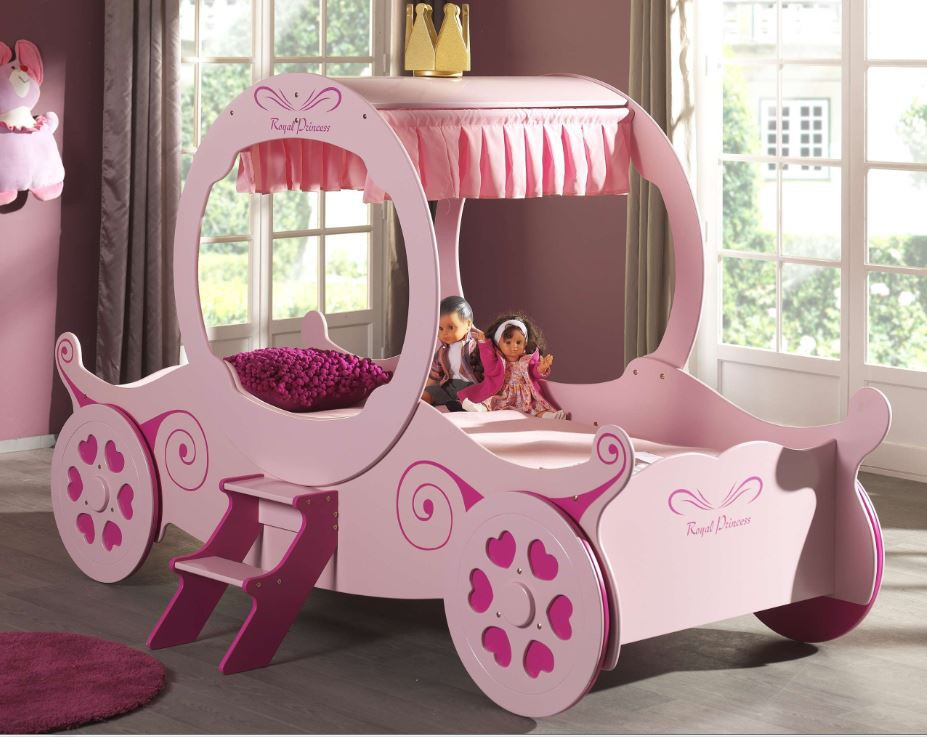 kutschenbett royal princess kate kinderbett bett rosa kids teens betten motivbetten prinzessin. Black Bedroom Furniture Sets. Home Design Ideas