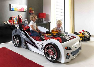 Autobett Brap Brap Kinderbett Bett Weiß – Bild 2