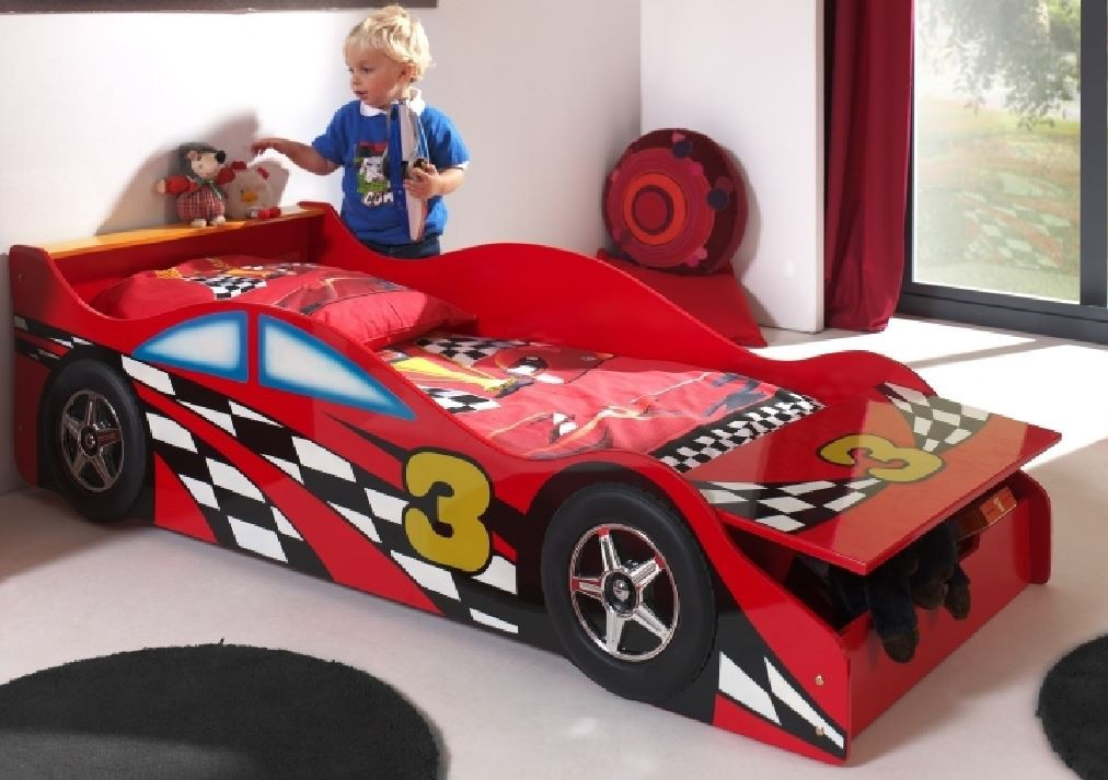 autobett race car kinderbett bett rot ebay. Black Bedroom Furniture Sets. Home Design Ideas