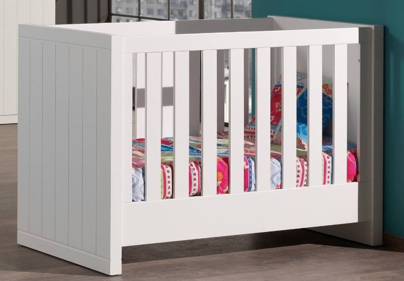 babybett robin kinderbett kinderzimmer bett wei ebay. Black Bedroom Furniture Sets. Home Design Ideas