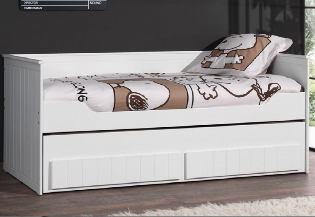 kojenbett robin kinderbett schubladenbett funktionsbett bett wei kids teens betten. Black Bedroom Furniture Sets. Home Design Ideas