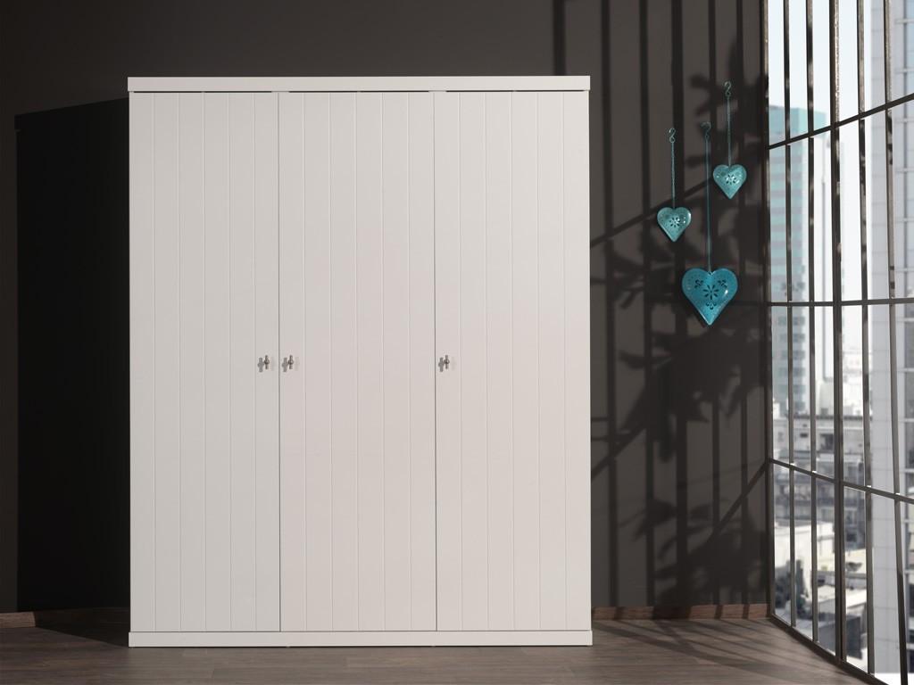 Lara Kleiderschrank 3-trg  Weiß