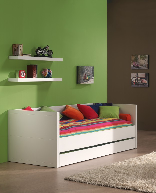 kojenbett lara kinderbett funktionsbett wei kids teens. Black Bedroom Furniture Sets. Home Design Ideas
