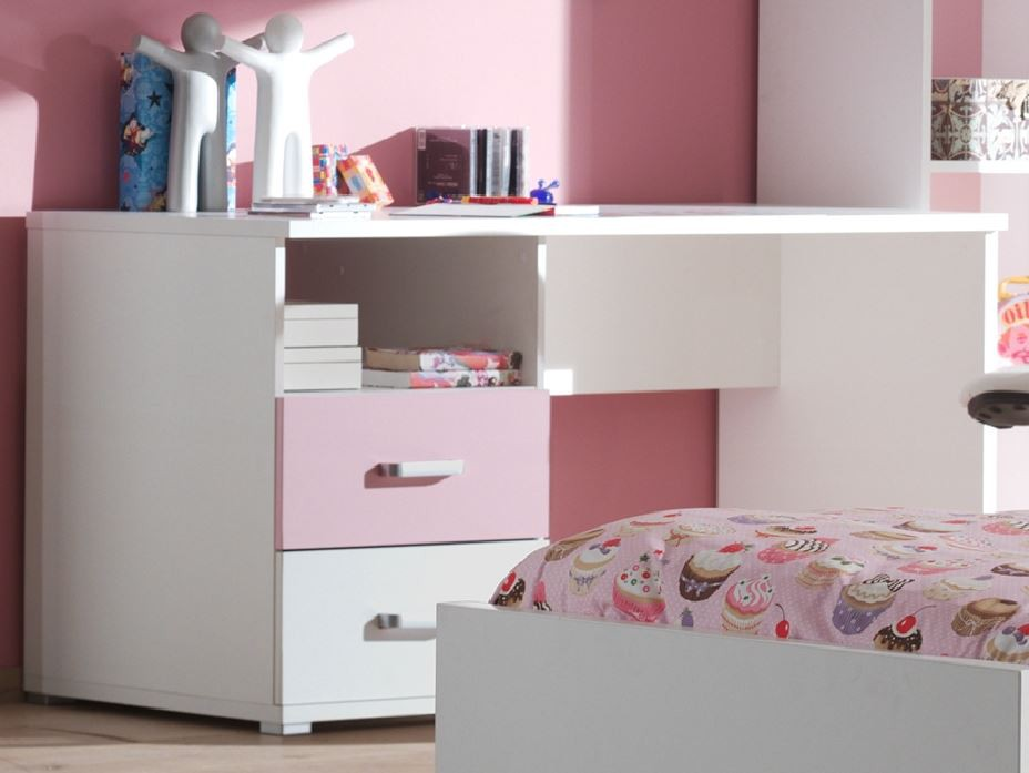 schreibtisch valentine kinderschreibtisch tisch jugendzimmer wei rosa. Black Bedroom Furniture Sets. Home Design Ideas