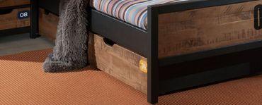 Kinderzimmer Set Alex Bett Kinderbett Schrank Komplettset Kiefer – Bild 5