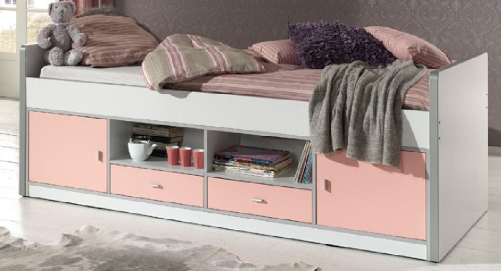 kinderzimmer bonny kojenbett mit kleiderschrank kinderbett bett schrank wei rosa kids teens. Black Bedroom Furniture Sets. Home Design Ideas