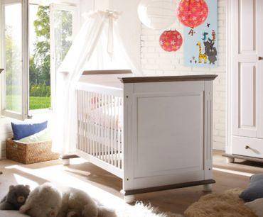 Laura Babyzimmer Kinderzimmer Babymöbel Wickelkommode Babybett Kiefer massiv – Bild 2