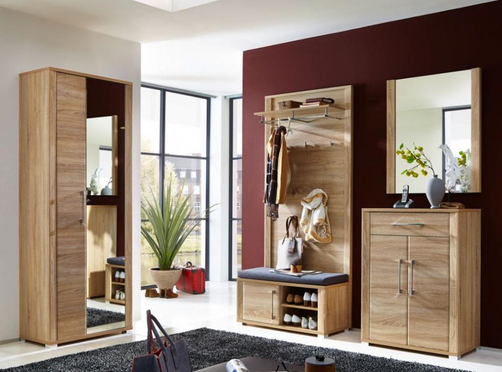 greenville garderobenpaneel wandpaneel garderobenhaken paneel eiche sonoma diele flur paneel. Black Bedroom Furniture Sets. Home Design Ideas