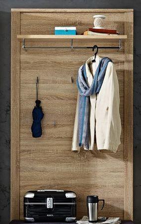 GREENVILLE Garderobenpaneel Wandpaneel Garderobenhaken Paneel Eiche Sonoma – Bild 1