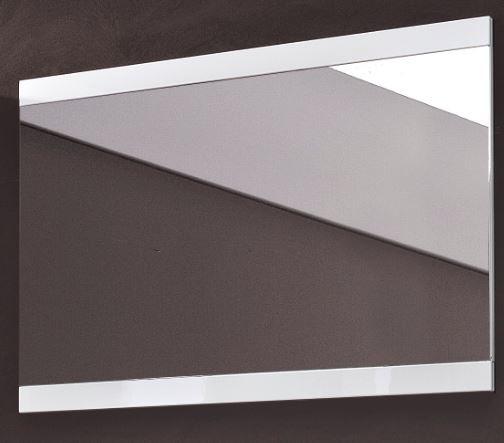 lyon spiegel garderobenspiegel wei hochglanz diele flur paneel kleiderhaken. Black Bedroom Furniture Sets. Home Design Ideas