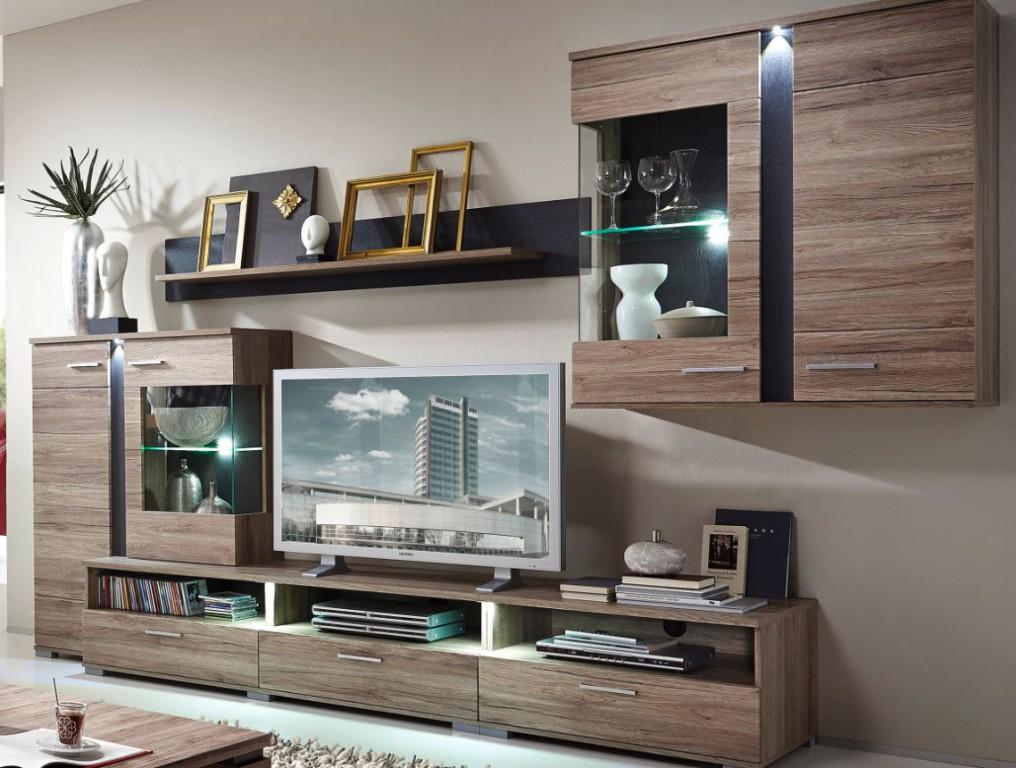 Charming Spot Wohnkombination TV Kombination Wohnwand Wohnzimmer Set ...