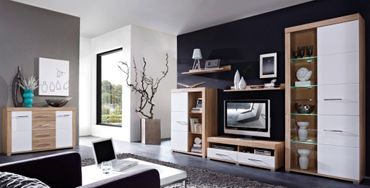DETROIT Wohnzimmer Komplettset Wohnzimmerkombination Wohnwand Wohnset TV Kombination Bild 1