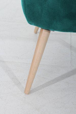 LEEDS Einzelsessel Sofa Sessel Einzelsofa Microfaser Petrol – Bild 6