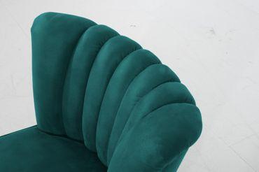 LEEDS Einzelsessel Sofa Sessel Einzelsofa Microfaser Petrol – Bild 5
